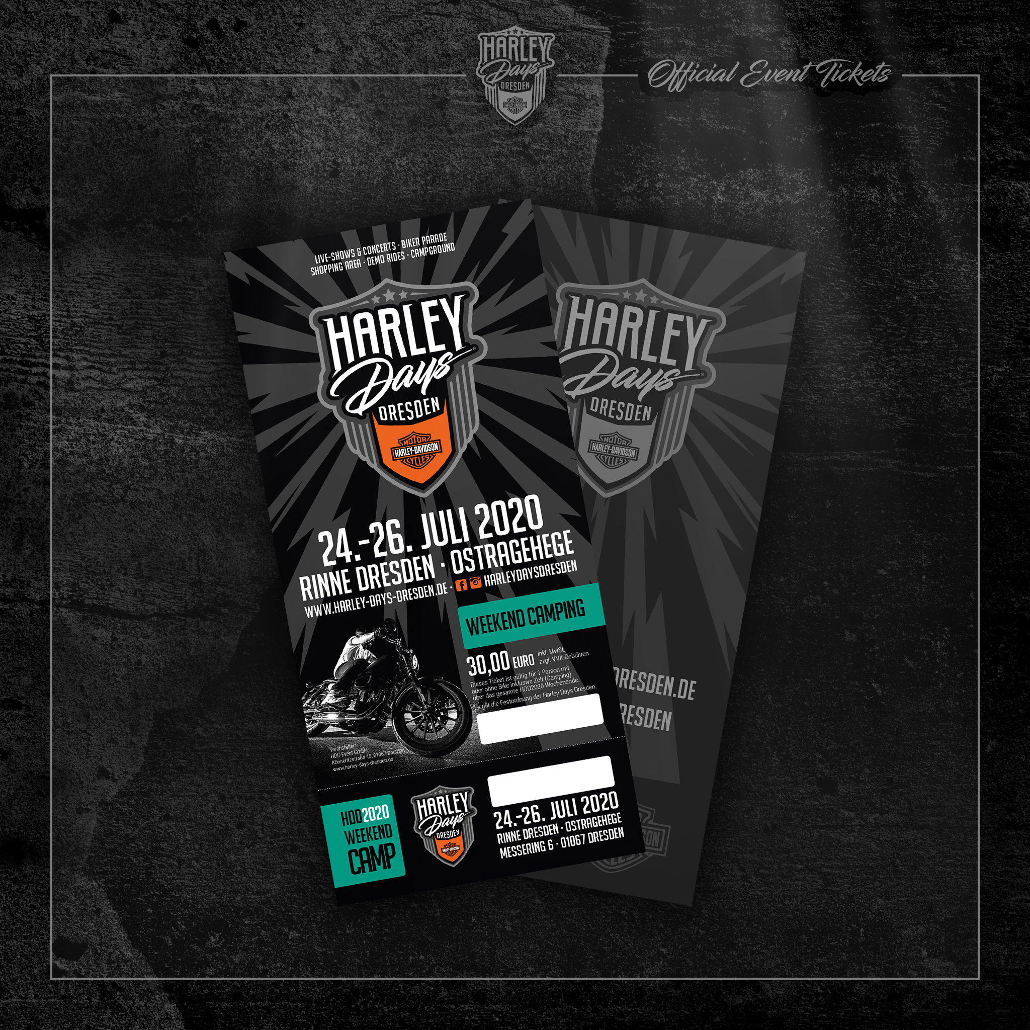 Harley Days Dresden - Ticket Weekend Camping
